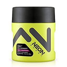 Neon Sport Volt Creatine Free Preworkout with Beta Alanine, Berry Pomegranate, 36 Servings