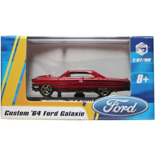 87 / HO SCALE CUSTOM '64 FORD GALAXIE (RED) Hot Wheels Vehicle