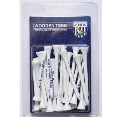 100% OFFICIAL WEST BROM FC LONG GOLF WOODEN TEES GI