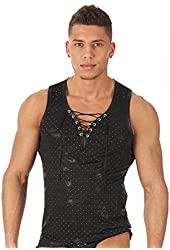 Men's Glamorous Front Laced Tank by Gregg Homme