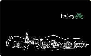 """Frühstücksbrettchen """"Skyline Freiburg"""" - als Geschenk für Breisgauer & Fans der Stadt am Fuss des Schwarzwalds oder als Freiburg Souvenir"""