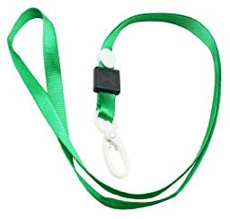 Chuzhao Wu Green Polyester Lanyard Neck Clip ID Card Holder(Pack Of 20)