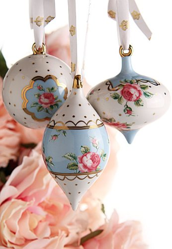 Royal Albert Traditional Holiday Ornaments - Polka Blue,