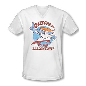 Dexter's Laboratory Quickly Slim Fit V-Neck T-Shirt