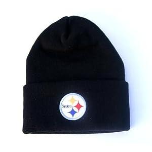 Pittsburgh Steelers Black Cuffed Knit Hat