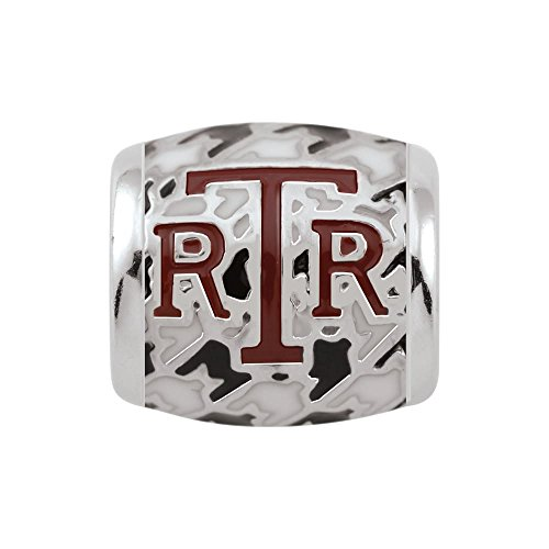 Persona Sterling Silver University of Alabama Crimson RTR on Houndstooth Bead Charm