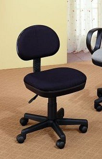 Black Adjustable Back & Height Office /Secretary /Student Chair
