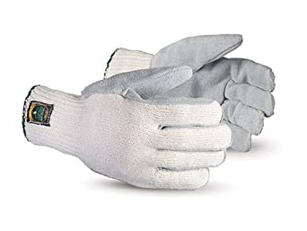 Superior SCPSCLP SilaChlor Combination Heat-Resistant Cotton/Polyester String Knit Glove with Leather Palm, Work, X-Large (Pack of 1 Dozen)