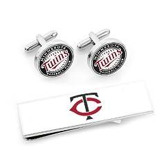 Minnesota Twins Cufflinks and Money Clip Gift Set by Cufflinks