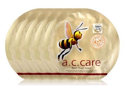 Omar Sharif A.C.Care Bee's Sheet Mask - 5pcs (Ac Care compare prices)