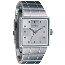 Nixon A013100 quatro white dial stainless steel bracelet men watch NEW