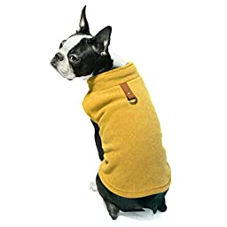 Gooby Every Day Fleece Cold Weather Dog Vest for Small Dogs, Honey Mustard
