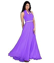 Ps Enterprise Georgette Anarkali (Pse34_Purple)