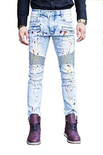 COUSIN CANAL Jeans Denim Jeans uomo ragazzi pista diritta Biker 061 31