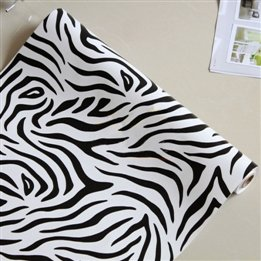 Zebra Print Pvc Home Decor Wallpaper front-940378