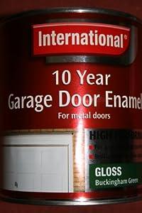 International 10 Year Garage Door Enamel - Buckingham Green - Gloss - For Metal Doors - 750ml