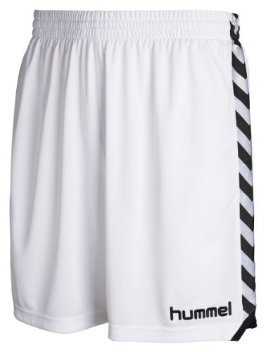 Hummel - Pantaloni corti Stay Authentic, poliestere, Bianco (bianco), XL