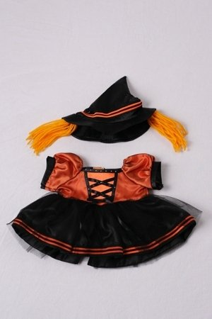Halloween Witch Costume Outfit Teddy Bear Clothes