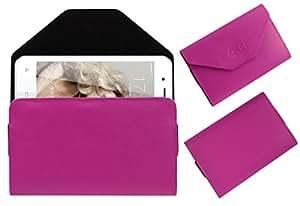Acm Premium Flip Flap Pouch Case For Celkon Diamond Q4g Mobile Leather Cover Magnetic Closure Pink