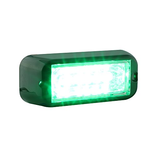 Lamphus Cosmicray 6W Led Emergency Vehicle Deck Grille Strobe Warning Linear Light Head ( Other Color Available ) - Green