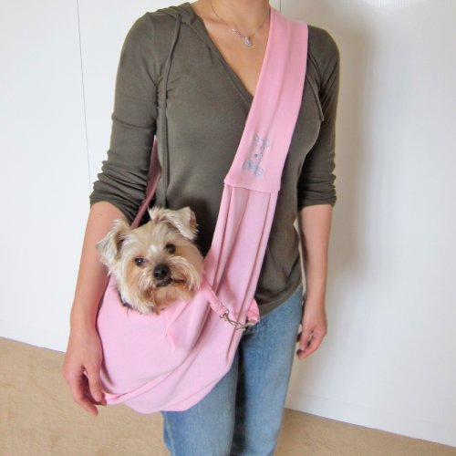 Alfie Pet by Petoga Couture – Chico Reversible Pet Sling Carrier – Color: Pink