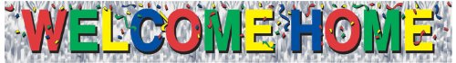 Metallic Welcome Home Fringe Banner Party Accessory (1 count) (1/Pkg)