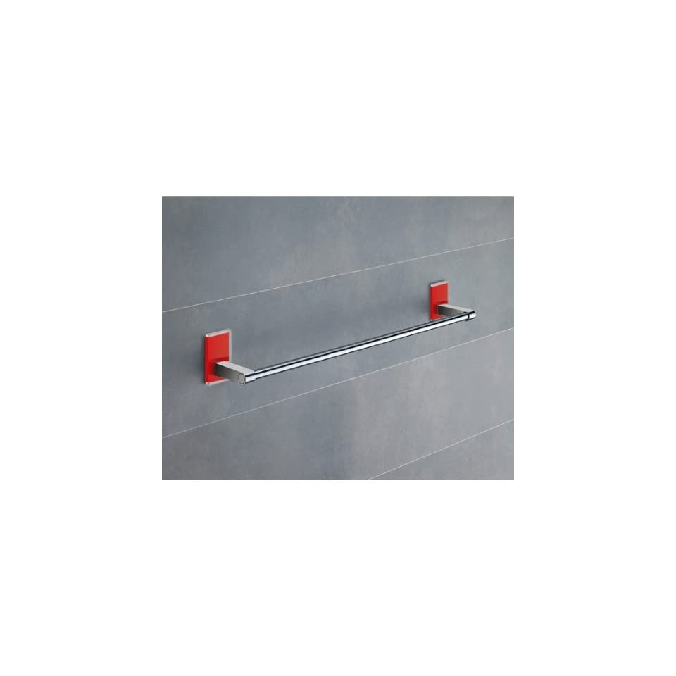 Gedy 7821 45 06 18 Inch Red Mounting Polished Chrome Towel Bar 7821 45 06