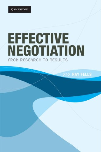Effective Negotiation: From Research To Results front-1036523