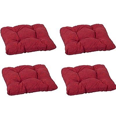 beo Einfachkissen SV40-D MM05 Kissen mit Flockenfüllung und 4 Steppunkten, circa 38 x 38 cm, 8 cm Dick, rot von beo auf Gartenmöbel von Du und Dein Garten