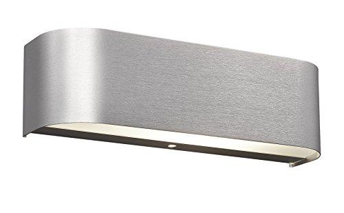 Trio Leuchten 220810205 - Applique da parete a LED in alluminio spazzolato, vetro satinato bianco