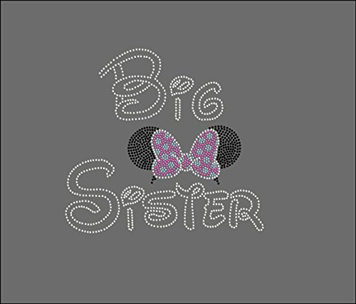 Disney Sisters, Little, Middle, Or Big SISTER With Minnie Ears You Choose Design Rhinestone Iron On Transfer Hot Fix Bling (Big Sister 9 X 10) (Iron Sister compare prices)