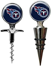 TENNESSEE TITANS NFL CORK SCREW AND WINE BOTTLE TOPPE RSET by Great American Products