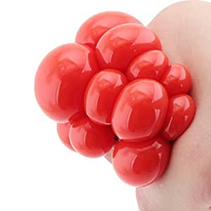Red Squishy Ball : Amazon.com: Squishy Mesh Ball Decompression Stress Reliever Squeeze Toy (Red): Toys & Games