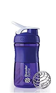 Blender Bottle 20oz Purple Sports Mixer