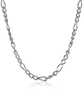 """Sterling Silver 060-Gauge Figaro Chain Necklace, 16"""""""