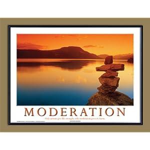 Framed Inspirational  on Amazon Com  Moderation Motivational Framed Poster  Inspirational Art