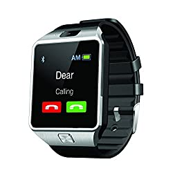 Bluetooth SmartWatch Phone With Sim And Camera, Android With Bluetooth Camera Sim Card Support With Apps like Facebook and WhatsApp Touch Screen Multilanguage Android/IOS Mobile Phone Wrist Watch Phone with activity trackers and fitness band features compatible with Samsung IPhone HTC Moto Intex Vivo XiaoMi One Plus Lenovo