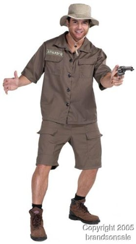 Adult Safari Man Halloween Costume (X-Large 48-50)