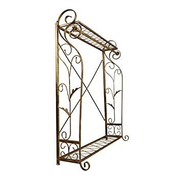 Brand New Free Standing Decorative Antique Bronze Iron Garment Coat Rack (Y009C)