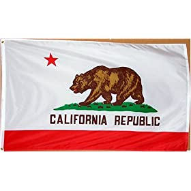 California Flag 3x5ft Superknit Polyester