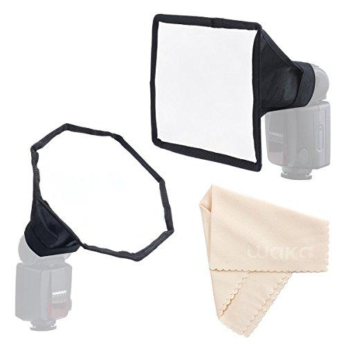 "Flash Softbox per Speedlight Kit - Portable 8 ""/ 20cm Octagon Softbox + 8"" x6 ""/ 20x15cm Softbox Set, diffusore Flash fotocamera per Canon Nikon"