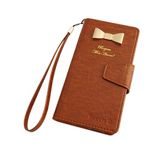 Beaute(ボーテ) スマホケース スマホカバー手帳型 docomo ドコモ GALAXY S4 SC-04E 携帯 カバー カード ケース SIM Free シム フリー ブラウン(03) 正規品