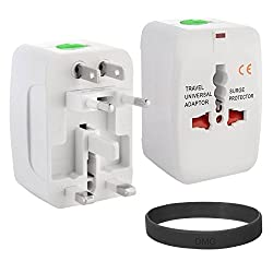 DMG Universal World Wide Multi Plug Travel Charger Adapter + DMG Wristband
