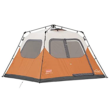 Coleman Waterproof 10 X 9' 6-Person Instant Tent, Orange