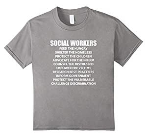 Kids Social Work Shirt protecting the children and empowering  8 Slate
