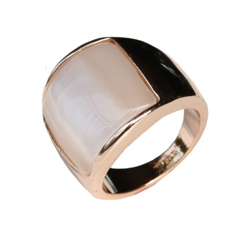 Fashion Plaza Wide Shell Band 18K Gold Plated Engagement Wedding Women Ring R286 Size 9