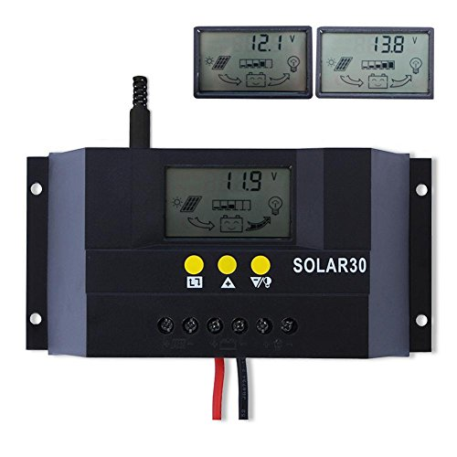 Sun YOBA Solar Charge Controller Solar Controller 30A 12V 24V SOLAR30 (Solar Panel Voltage Controler compare prices)