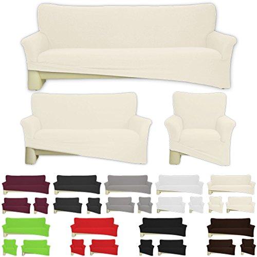 bieten nurtextil24 sofahussen bi elastisch jersey 10 farben und 3 gr en baumwolle creme f r. Black Bedroom Furniture Sets. Home Design Ideas