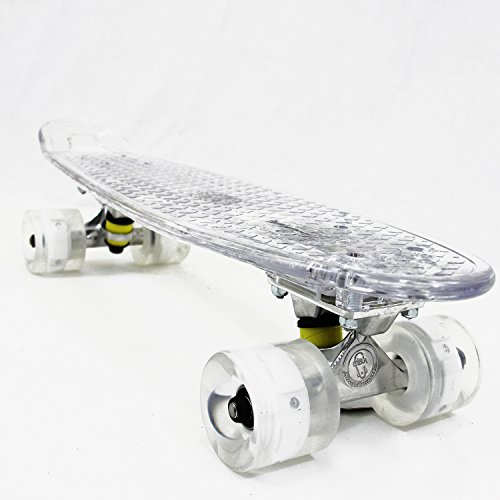"Fish Skateboard LED Light Up Plastic 22"" Retro 70's Urban Cruiser Beach Sidewalk"