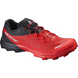 Salomon S-Lab Sense 5 Ultra SG Trail Running Shoe Racing Red/Black/White, 11.0 - Men\'s